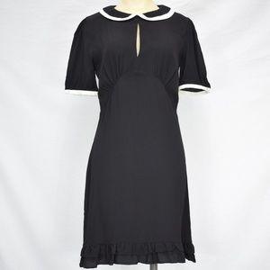 ASOS | Black Cocktail Dress /w Keyhole & Coller 4